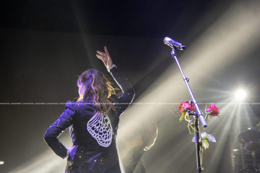 Rozalén durante su concierto en el WiZink Center, el pasado 8 de julio. // Foto: Noelia Moretti
