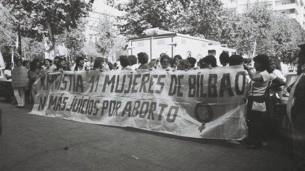 Manifestación para pedir la puesta en libertad de las 11 de Basauri.
