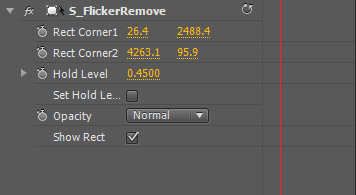 Panel de control de FlickerRemove de Genarts Sapphire