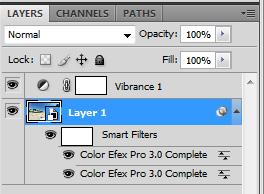 Ejemplo del uso de Smart Object con algunos filtros aplicados