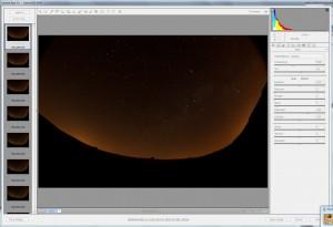 Interfaz de Adobe Camera Raw 5.5