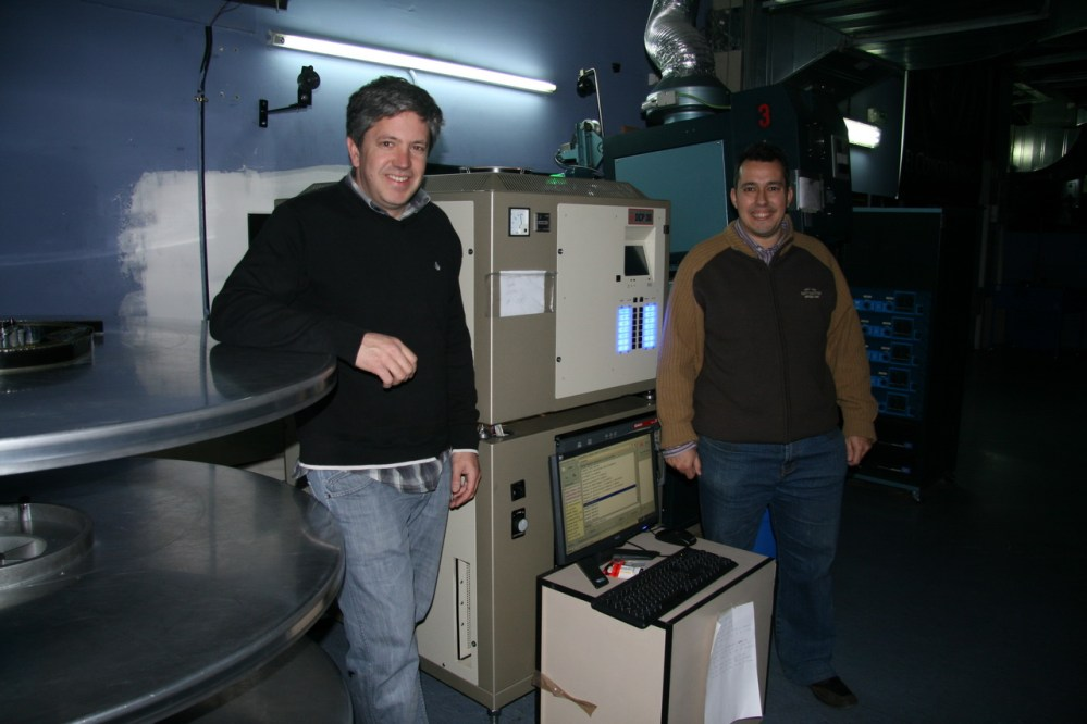 Visita a la cabina de proyección de Cine Digital 3D