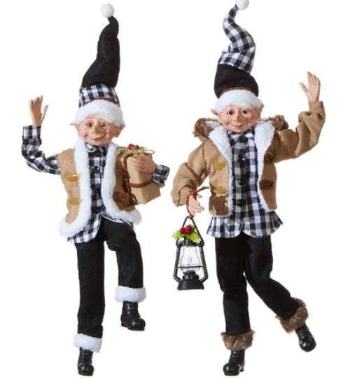 Farmhouse Christmas elves for holiday decorating with a farmhouse twist