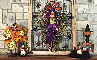 10 Ways add a whimsical touch to your wreath, swags & arrangements with elves