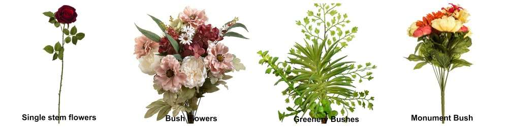 4 Basic Types of Silk Flowers