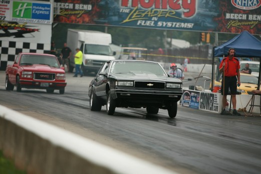 TONS of drag racing action for different classes.