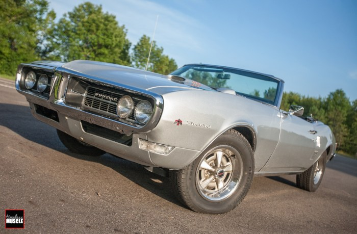 Our in-house '68 Firebird has several custom touches like the paint and engine swap, but still rolled on the factory Rally II wheels that made their debut the same year our car was born!