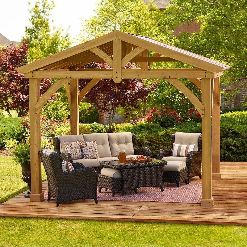 25 Collection of Garden Yardistry Gazebo on Yardistry Backyard Pavilion id=62822