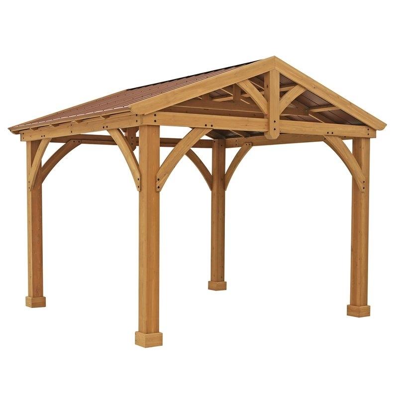 25 Inspirations of Yardistry Cedar Gazebo on Yardistry Backyard Pavilion id=92237