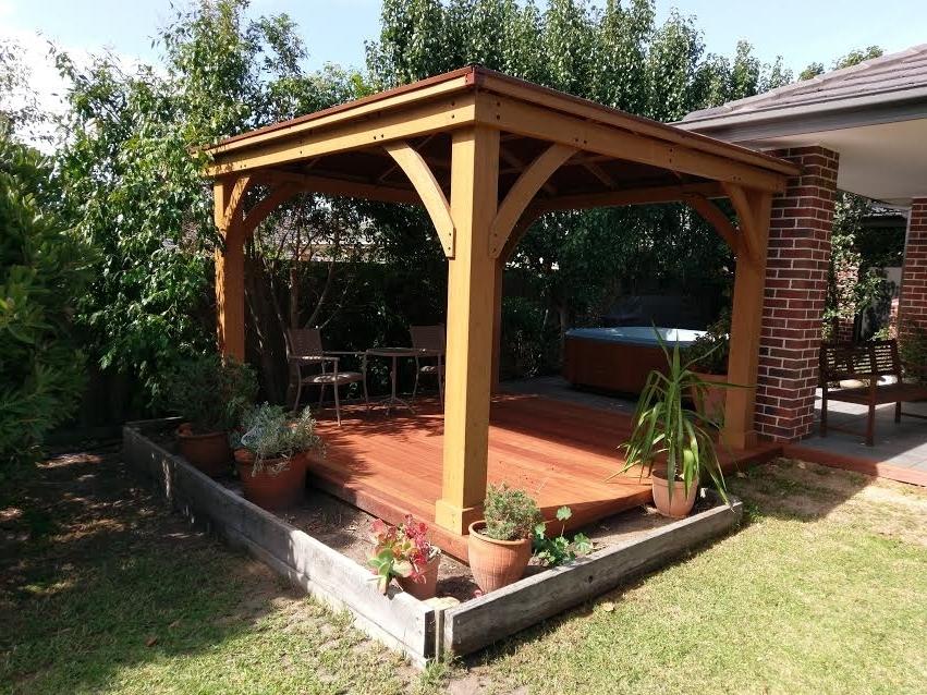 25 Collection of Garden Yardistry Gazebo on Yardistry Backyard Pavilion id=53412
