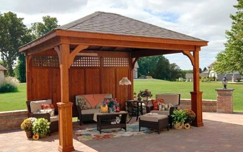 25 Inspirations of Yardistry 12X14 Gazebo on Yardistry Backyard Pavilion id=84834