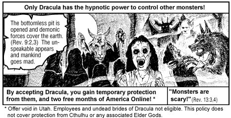 jack chick / dracula mashup cartoon