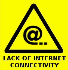 warning sign from the future - lack of internet connectivity