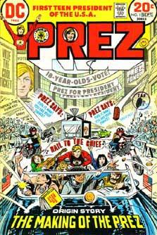 Cover to Prez #1 (1973)