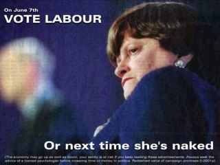 Anne Widdecombe: Vote Labour... or next time shes naked.