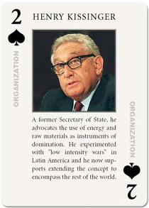 image of Henry Kissinger's playing card