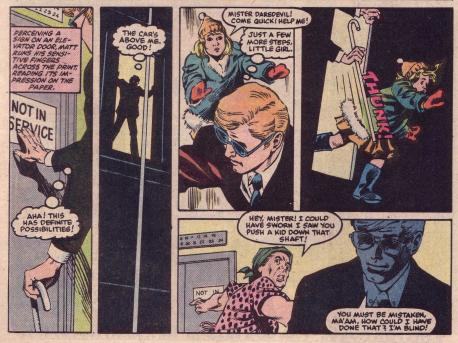 matt murdock kicks a kid down a lift