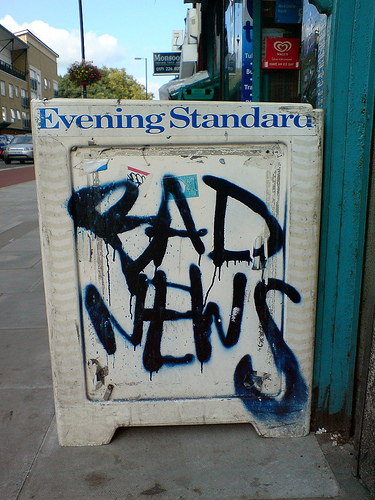 evening standard - bad news