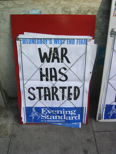 Evening Standard: War Has Started