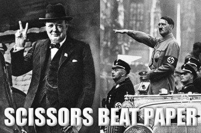 scissors beat paper!
