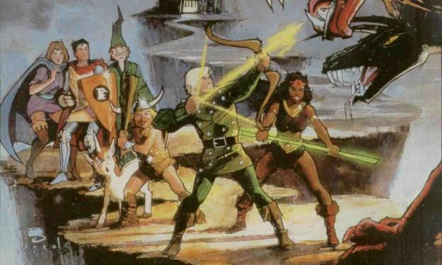 Bill Sienkiewicz art for the Dungeons and Dragons cartoon