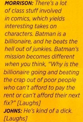 Grant Morrison and Geoff Johns On Batman