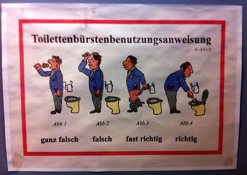 Toilettenbürstenbenutzungsanweisung