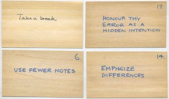 Original Oblique Strategies