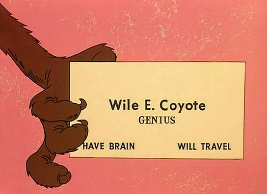 Wile E Coyote's Business Card