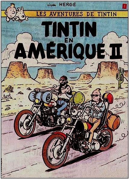 Tintin and Captain Haddock - Easy Riders