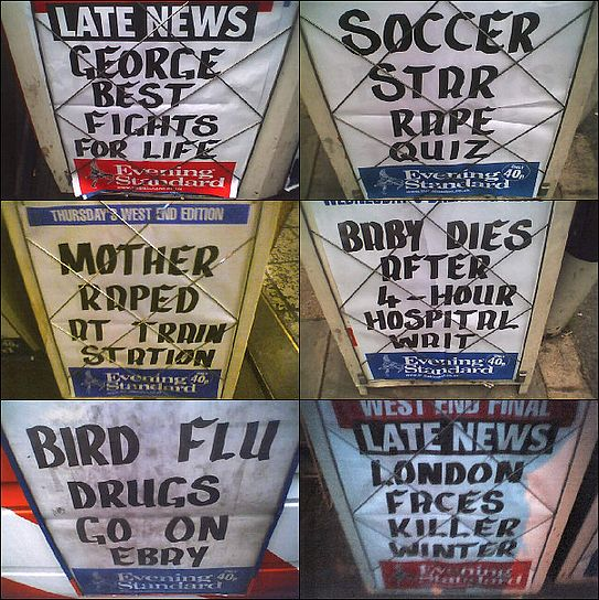 Evening Standard Headlines - October 2005