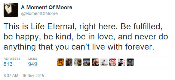Alan Moore's First Tweet...
