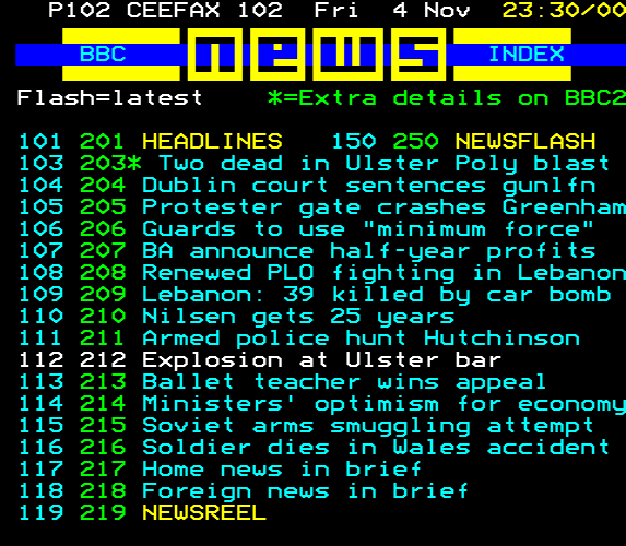 Recovered Teletext Page
