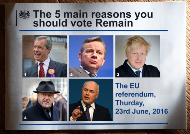 The five main reasons you should vote remain...