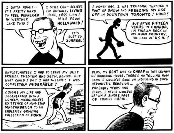 Joe Matt in L.A. Comic