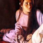 Mary anoints Jesus' feet