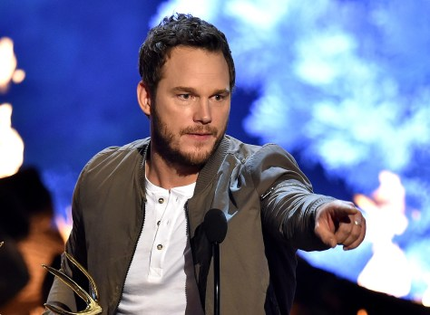 Actor Chris Pratt accepts the Guy of the Year award onstage during Spike TV's Guys Choice 2015 at Sony Pictures Studios on June 6, 2015 in Culver City, California.  (Photo by Kevin Winter/Getty Images for Spike TV)