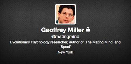 Geoffrey Miller Twitter page