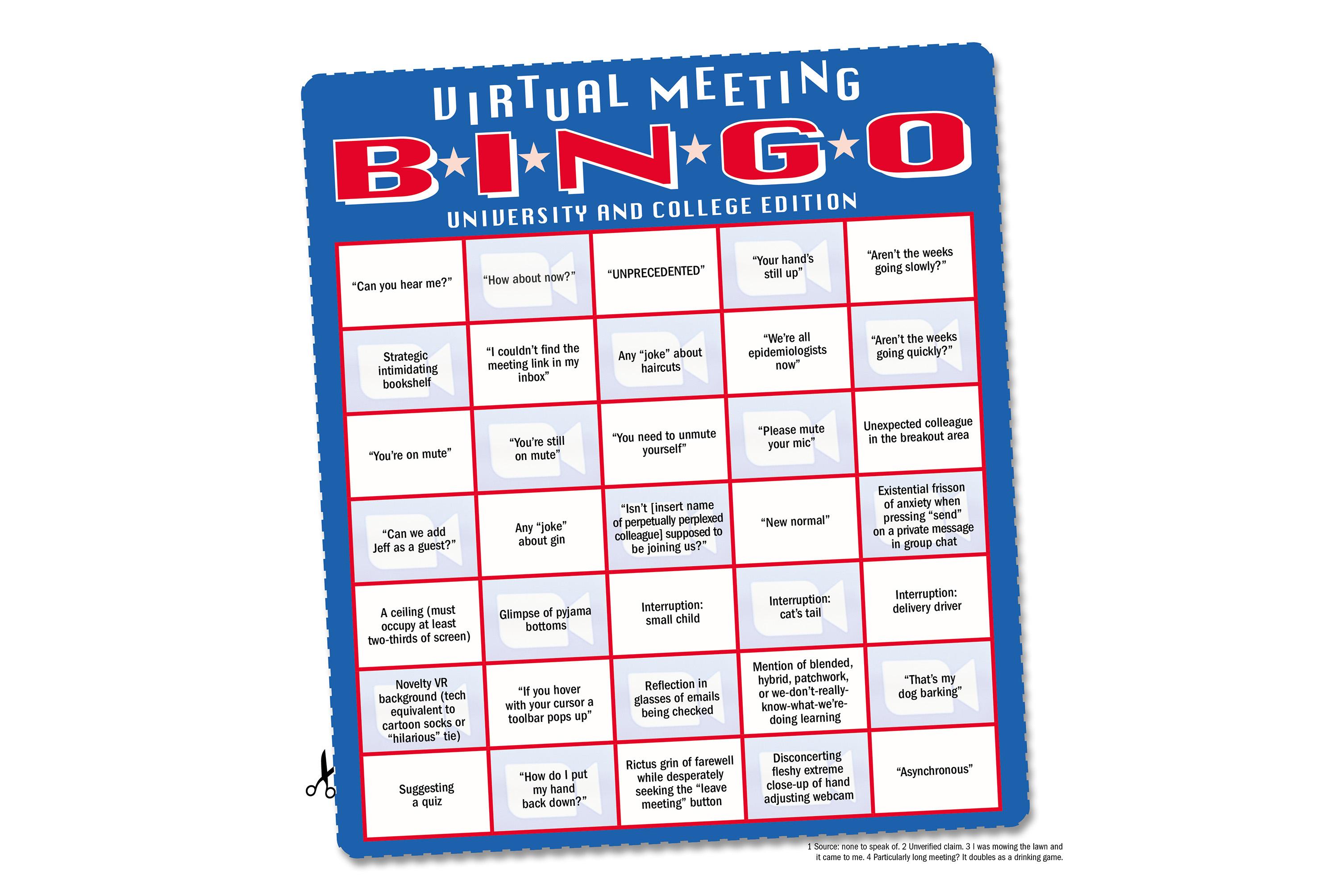 Conference Call Bingo Cards Zoom Bingo News Word