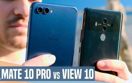 Honor View 10 vs Huawei Mate 10 Pro