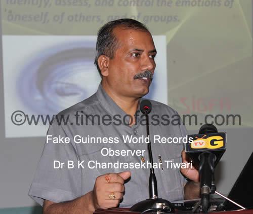 Fake Guinness World Records observer Dr B K Chandrasekhar Tiwari