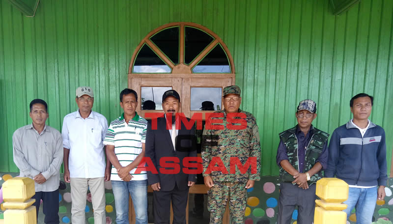 UNLFW head to representatives led by the Chairman Lt.Gen.(rtd.) Khango Konyak in black suit in the middle.