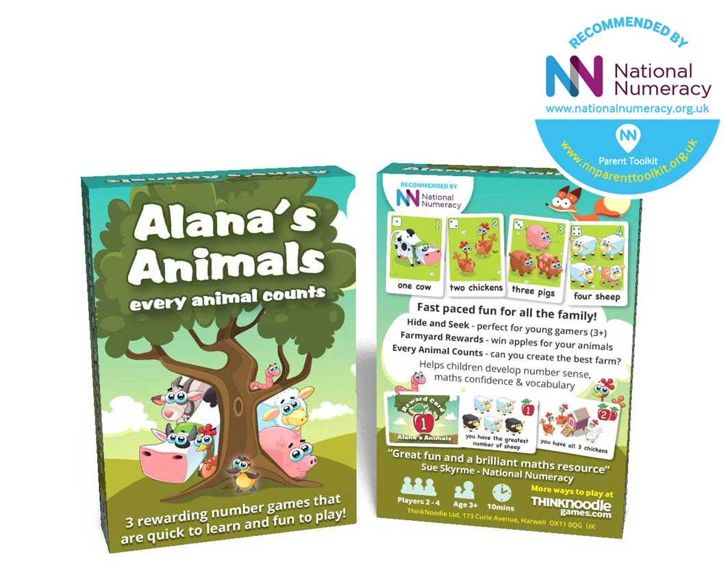 Alana's animals numeracy card game