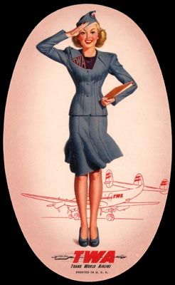 Trans World Airline luggage tag - 1946