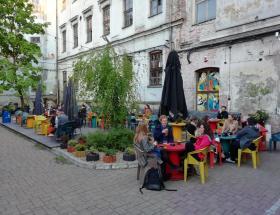 Bier op het terras van Hala Glowna