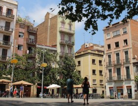 De wijk Gràcia in Barcelona