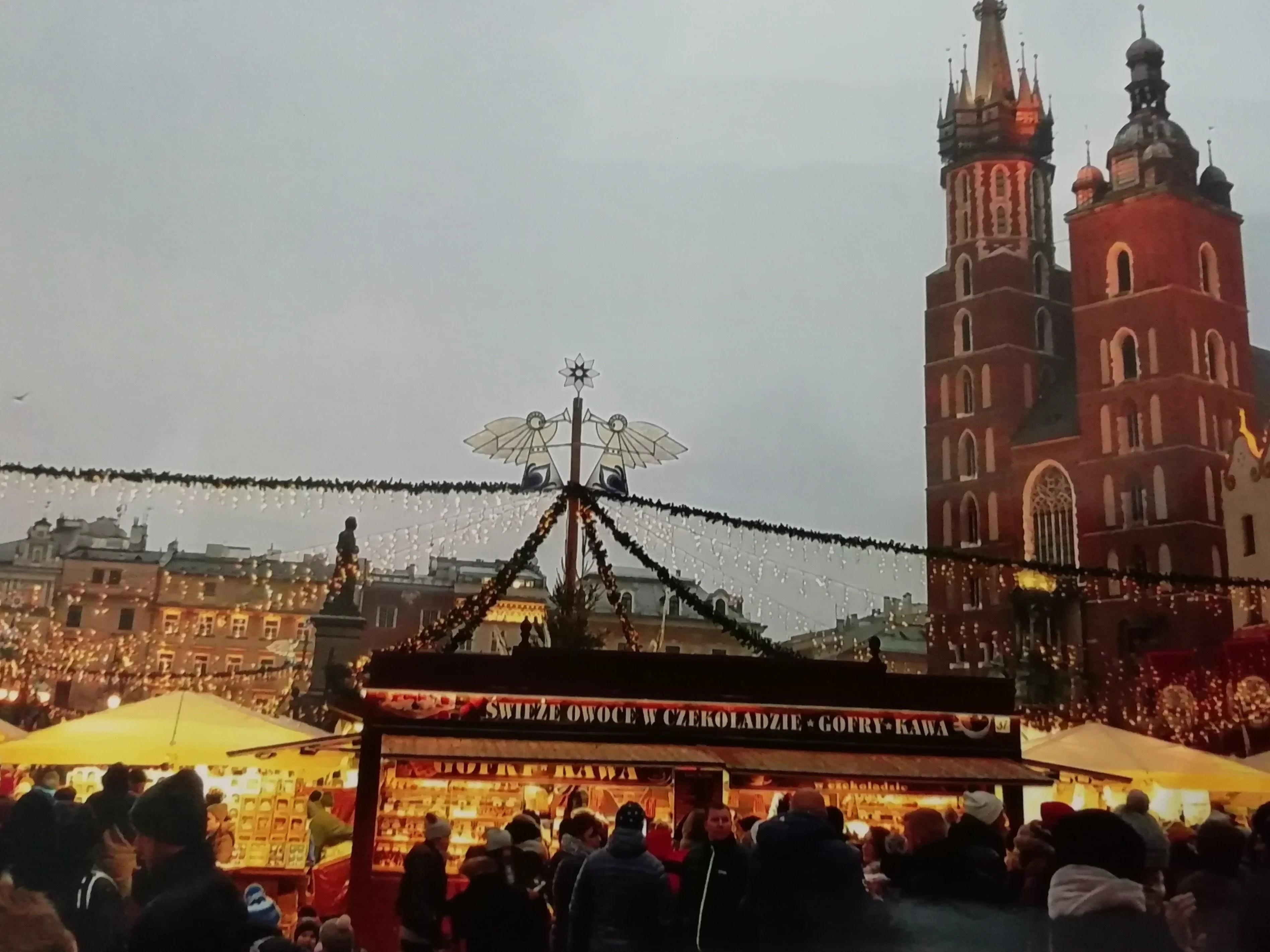 Kerstmarkt in Krakau