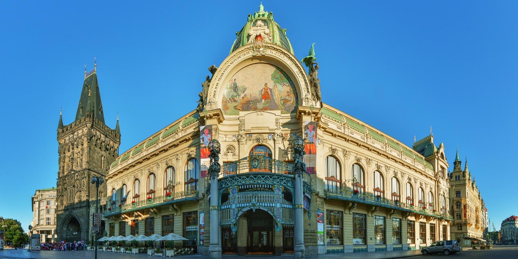 Praag Obecni Dum toppunt art nouveau in Praag