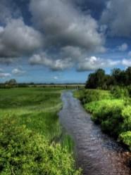 Kasari jõgi, vana kivisilla pealt vaadates