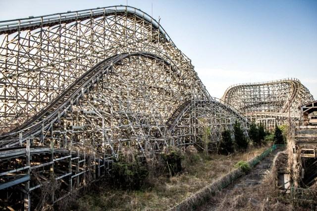Нара Dreamland, заброшенный тематический парк, Нара, Япония американские горки